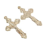 Gold Plated Crucifix Cross real gold plated high quality plating 4.8 x3.1cm