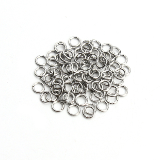 Approx 10,000/Pcs Stainless Steel Open Ring Donut 7mm x 1.0mm