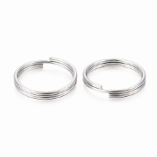 100% Stainless Steel Split Ring 304 Stainless Steel round original color-SILVER FINISH 12x1.5mm; about 10.5mm inner diameter for Catholic Crucifixes, Saint medals and charms
