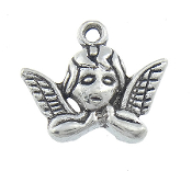 Angel Charm Antique Silver Finish 1.9x1.6x0.3cm Character Shaped