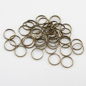 Split Ring BRONZE Finish 12x0.7mm Iron Split Ring