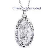 Our Deluxe Patron Saint necklaces are known for the most Beautiful intricate designs High End Catholic Patron Saint medals 100% Solid Sterling Silver or stainless steel Due to the extraordinarily low prices being offered in this sale.....