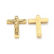 Antique Gold Contemporary Crucifix Rosary Parts 4.5x3.5cm-Necklace