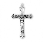 Rosary parts to make rosaries Flower Tip Rosary Crucifix Sterling Silver Flare tipped crucifix