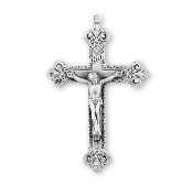 Kristy's Rosary making parts Sterling Silver Crucifixes Deluxe Scroll design sterling silver crucifix cross