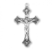 Rosary parts to make rosaries crucifixes Detailed Sterling Silver Crucifix