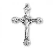 Rosary parts to make rosaries crucifixes rosary making supplies Angel Tipped Sterling Silver Crucifix