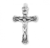 Rosary parts to make rosaries crucifixes Floral Designed Sterling Silver Rosary Crucifix