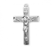 "Rosary parts to make rosaries crucifixes rosary making supplies Traditional Detailed 100% Solid Sterling Silver Crucifix Made USA 1.6""x 1.0"""