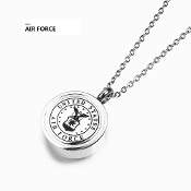 Memorial Military Urns-UNITED STATES-AIR FORCE Pendant ash URN Titanium Steel. Military Urns | Veterans Urns Pendant URNS. Made of solid Titanium Steel Cinerary Casket Necklace with Chain. Cremation Necklace for Ashes.