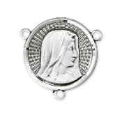 "Deluxe Lady of Sorrows Sterling Silver Rosary Center 0.6"" rosary parts"