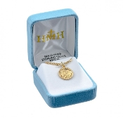 Saint Michael Round Gold over Sterling Silver Medal
