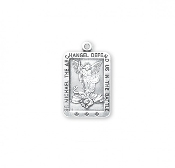 Saint Michael Rectangle Sterling Silver Medal