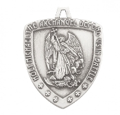 Saint Michael Sterling Silver Shield Medal