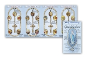 PRAY THE ROSARY Full color picture PAMPHLET 8 Page