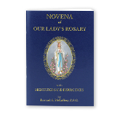 Novena of Our Lady's Rosary. The Twenty mysteries are illustrated in full color. Text is printed in two colors. Size: 3.5'' x 5'' 64 pages
