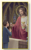 FIRST Holy COMMUNION BOY HOLY CARD Paper Italy