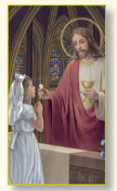 "FIRST Holy COMMUNION GIRL HOLY CARD Paper Italy 2"" X 4"""