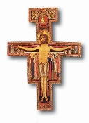 "5 1/2"" SAN DAMIANO CROSS ON WOOD"