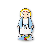 "3"" LITTLE DROPS OF WATER RESIN MAGNET OUR LADY OF GRACE"