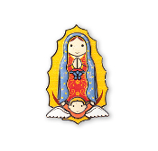 "3"" LITTLE DROPS OF WATER RESIN MAGNET OUR LADY OF GUADALUPE"