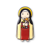 "3"" LITTLE DROPS OF WATER RESIN MAGNET SAINT THERESE"