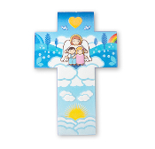 "5.75"" LITTLE DROPS OF WATER RESIN GUARDIAN ANGEL CROSS-5.75"" Little Drops Of Water Resin Cross. Comes With Wall Hanger And Is Boxed."