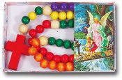 Kiddie Rosary-Big Bead Child's Rosary-5 Different Colors Italy