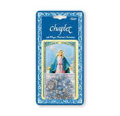 "Miraculous Medal Deluxe Chaplet. Packaged with a Laminated Holy Card & Instruction Pamphlet (Overall Size 6.5"" x 3.5"")."