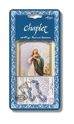 "Immaculate Conception Deluxe Chaplet with Light Blue Glass Beads Packaged with a Laminated Holy Card & Instruction Pamphlet (Overall 6.5"" x 3.5"")"