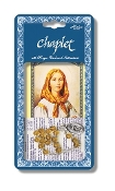 "Saint Dymphna Deluxe Chaplet with Topaz Glass Beads Packaged with a Laminated Holy Card & Instruction Pamphlet (Overall 6.5"" x 3.5"")"