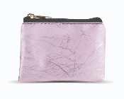 "Pink MARBLE Patterned Zipper Rosary Pouch HOLDER CASE. GOLD CROSS ON FRONT 3 1/2"" x 2 1/2"""