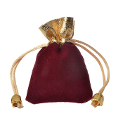 "Burgandy ROSARY HOLDER Bags Cloth DRAW STRING Pouches 3"" x 4"""