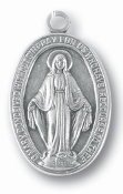 24/Pc Large Silver Oxidized Miraculous Medal 1 1/2 Oval Italy..The Miraculous Medal, also known as the Medal of the Immaculate Conception, is a medal created by Saint Catherine Labouré in response to a request from the Blessed Virgin Mary. ..