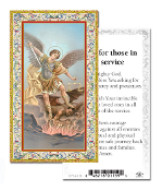 "Prayer for Those in the Service Saint Michael the Archangel Holy Card with Prayer ITALY PAPER.2""x4"" Gold Embossed Italian paper Holy Card with Prayer by Fratelli Bonella of Milan, Italy. Corresponding Prayer Printed on the Reverse Side of Card."