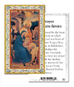 "Prayer to Obtain Favors Gold Embossed Paper HOLY CARD with Prayer 100/Pack..Made In Italy 2""x4"". Feature 3/8"" Florentine Border by Fratelli Bonella of Milan, Italy. Corresponding Prayer Printed on the Reverse Side of Card."