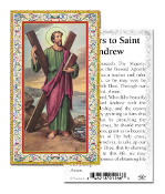 "Prayer to Saint Andrew Gold Embossed Paper HOLY CARD with Prayer 100/Pack..Made In Italy 2""x4"". Feature 3/8"" Florentine Border by Fratelli Bonella of Milan, Italy. Corresponding Prayer Printed on the Reverse Side of Card."