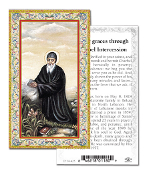 "Prayer to Saint Charbel Holy Card with Prayer ITALY PAPER. Made In Italy 2""x4"" Gold Embossed Italian paper Holy Card with Prayer by Fratelli Bonella of Milan, Italy. Corresponding Prayer Printed on the Reverse Side of Card."