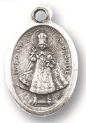 "25 Premium Medals. A Great Deal! 1"" In Height - Most Popular Oval Design From Italy Die Cast for Exceptional Detail and Silver Oxidized Dimensional Finish. Can Wear Around Neck or Attach to Rosaries, Jewelry, Etc."
