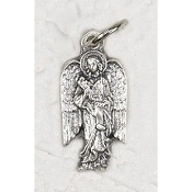 10/Pc Silhouette Archangel Gabriel medal Silver Oxidized Italy 2.3cm-by the local Italian craftsmen, and remains unmatched in quality, beauty, and longevity throughout the world -a Genuine Silver Oxidized Finish with a 3-dimensional dept..