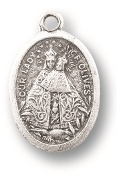 "Our Lady of Olives SHJ MEDAL. A Great Deal! 1"" In Height - Most Popular Oval Design From Italy Die Cast for Exceptional Detail and Silver Oxidized Dimensional Finish. Can Wear Around Neck or Attach to Rosaries, Jewelry, Etc."