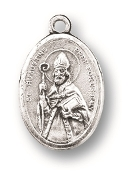 "Saint Augustine/ St Monica MEDAL. A Great Deal! 1"" In Height - Most Popular Oval Design From Italy Die Cast for Exceptional Detail and Silver Oxidized Dimensional Finish. Can Wear Around Neck or Attach to Rosaries, Jewelry, Etc."