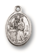 "Saint Benedict MEDAL. A Great Deal! 1"" In Height - Most Popular Oval Design From Italy Die Cast for Exceptional Detail and Silver Oxidized Dimensional Finish. Can Wear Around Neck or Attach to Rosaries, Jewelry, Etc."