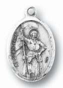 "Saint Joan of Arc MEDAL. A Great Deal! 1"" In Height - Most Popular Oval Design From Italy Die Cast for Exceptional Detail and Silver Oxidized Dimensional Finish. Can Wear Around Neck or Attach to Rosaries, Jewelry, Etc."