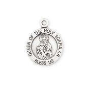 Bracelet Size Bracelet Parts Sterling Silver Holy Scapular Medal-Holy Scapular round medal-pendant. Solid .925 sterling silver. Detail depicts the Queen of the Holy Scapular. Medal is die struck. Hand polished and..