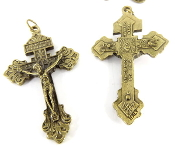 20/Pc Premium Classic Brass Tone Pardon Crucifix Italy .The Premium Brass finish has been perfected for years by the local Italian craftsmen, and remains unmatched in quality, beauty, and longevity throughout the world..