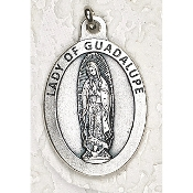 "24/Pc LARGE Our Lady of Guadalupe 1.5"" Silver Oxidized Medal BULK Italy-Extra large Premium Italian made medals Genuine SILVER OXIDIZED Finish. This exceptionally detailed die-cast is made in the region of Italy that produces the finest quality..."