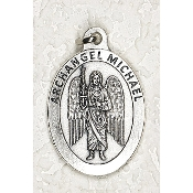 "24/Pc LARGE Archangel Michael 1.5"" Silver Oxidized Medal BULK Italy-Extra large Premium Italian made medals Genuine SILVER OXIDIZED Finish. This exceptionally detailed die-cast is made in the region of Italy that produces the finest quality..."