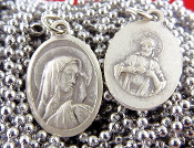 "10/Pc Blessed Virgin Mary LIMITED Our Lady of Tears Medal GENUINE Silver Oxidized-Premium Medals - 1"" In Height - Most Popular Oval Design From Italy-Die Cast for Exceptional Detail and Silver Oxidized Dimensional Finish Can Wear Around Neck or..."