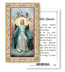 "Hail Holy Queen Gold Embossed Paper HOLY CARD Italy 100/Pack 2"" x 4"" Gold Embossed Italian paper Holy Card with Prayer. Feature 3/8"" Florentine Border by Fratelli Bonella of Milan, Italy. Corresponding Prayer Printed on the Reverse Side of Card."
